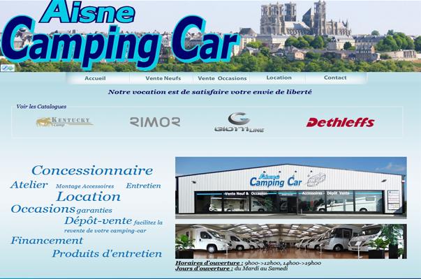 Site Internet : Aisne Camping Car