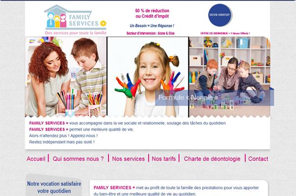 Site Internet : Aide à la personne : family Services +
