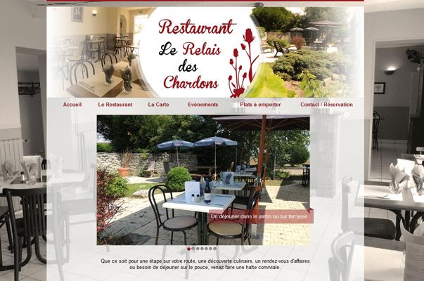 Site Internet : Restaurant à laon : le relais des chardon