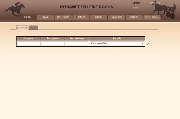 Intranet : Sellerie Dogon