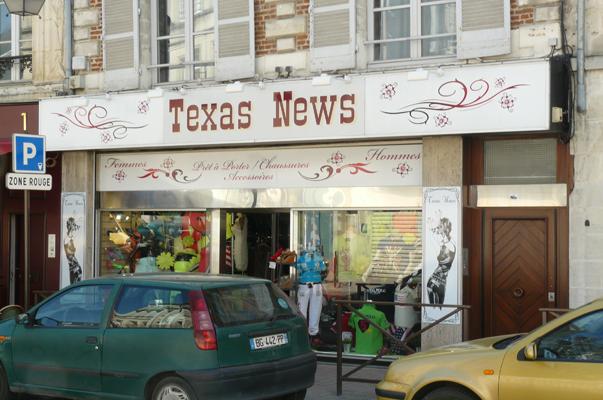 Enseigne : Texas News