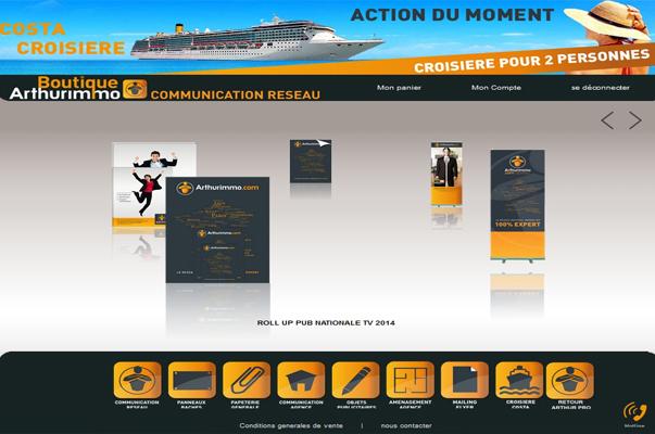 Site E-commerce : Arthurimmo.com