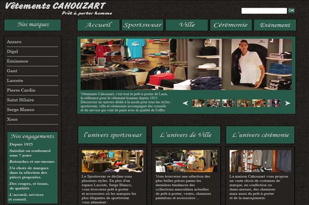 Site Internet : Boutique Cahouzart