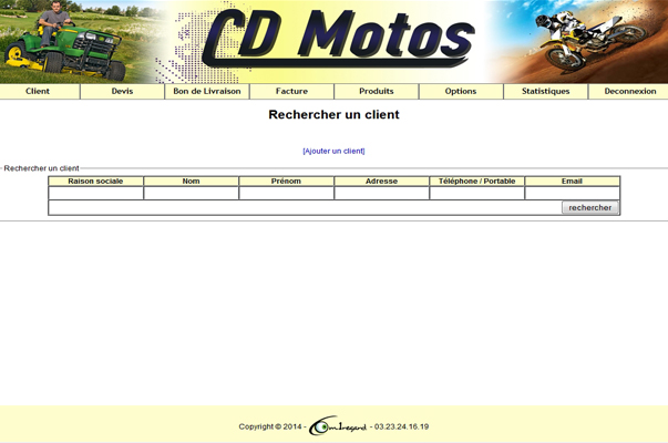 Gestion Commerciale : CD Motos