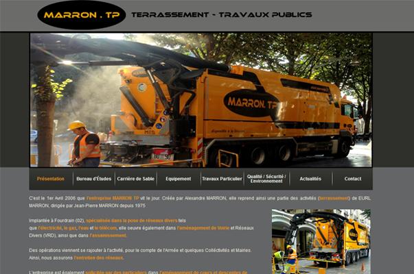 Site Internet : MARRON TP