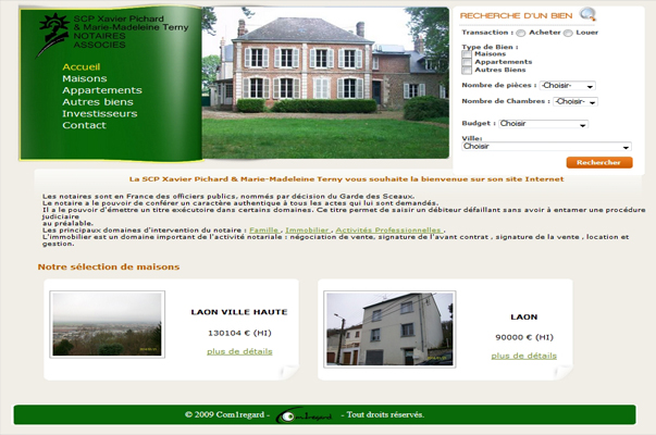 Site Internet : Pichard & Terny Notaires